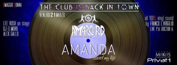 Venerdì 21 Marzo 2014 a cena con Amanda al Privat 1