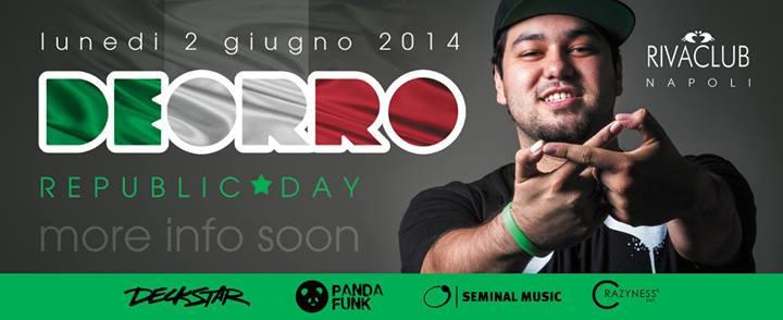 RIVA CLUB Lunedì 2 Giugno 2014 Dj DEORRO
