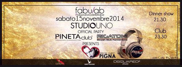 Sabato 15 Novembre 2014 allo Studio Uno