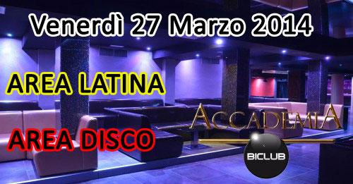 Serata Latina e Disco all'Accademia al Vomero