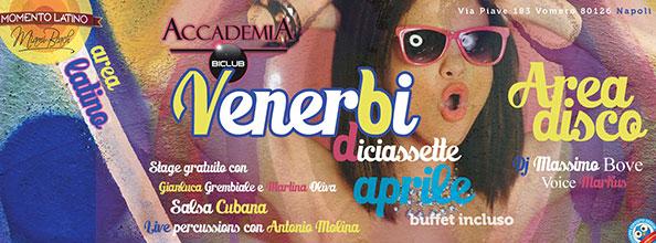 Venerdì 17 Aprile 2015 ACCADEMIA BiClub al Vomero